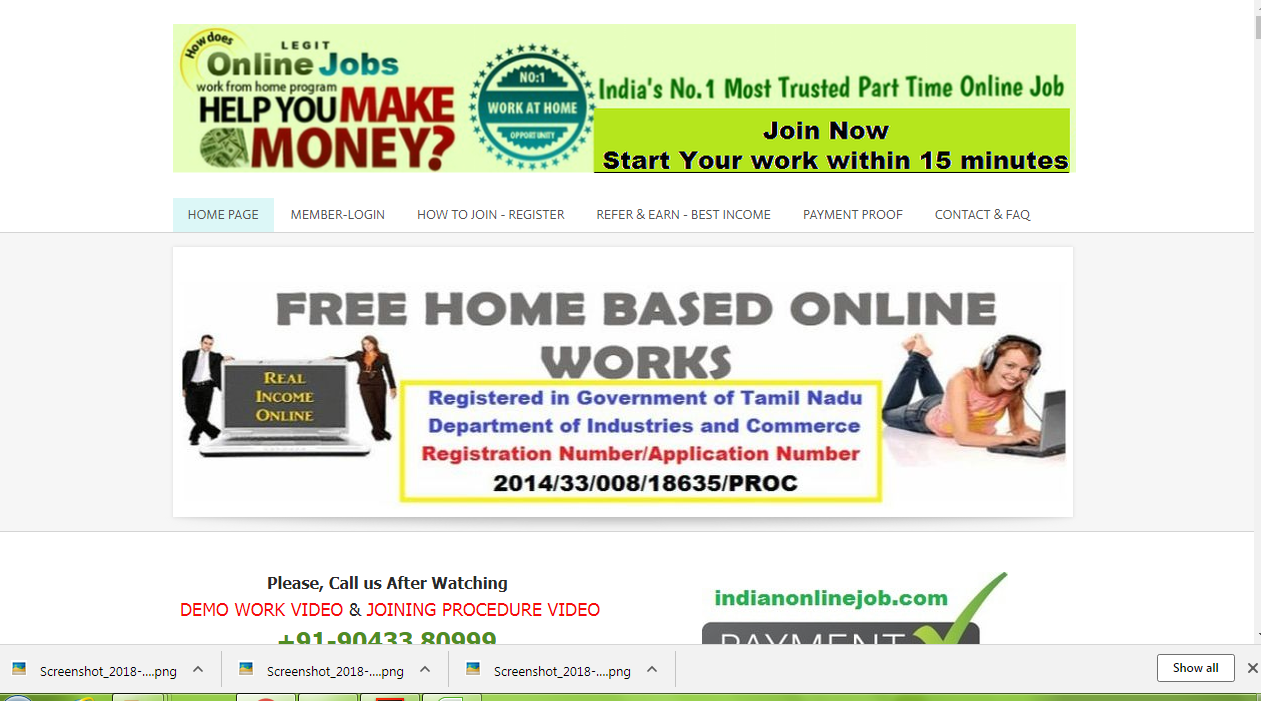 Excellent Opportunity To Earn Rs.1000/- Daily From Home - Limited ...